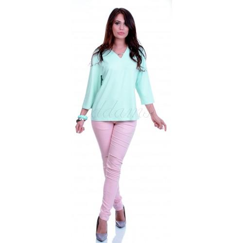 Gładka elegancka bluzka P695