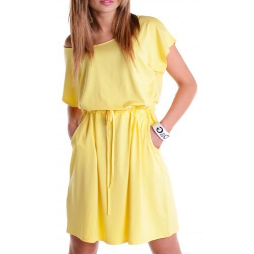 Sportowa sukienka dresowa wiązana P216