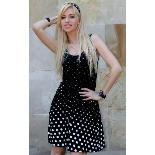 Cudna sukienka na lato w groszki P262