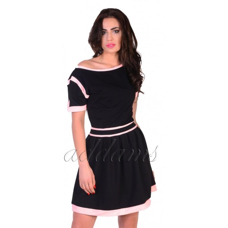 Dresowa rozkloszowana sukienka P298