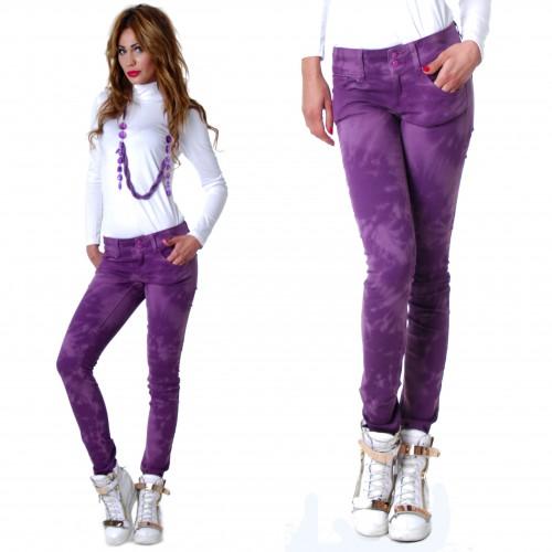 Markowe spodnie ONLY rurki dekatyzowane P318