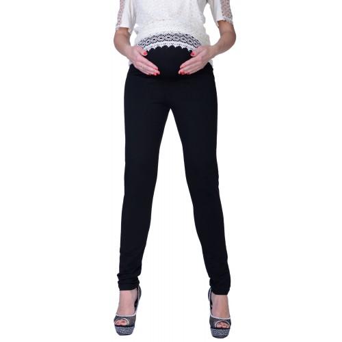Modne spodnie ciążowe z dzianiny P347
