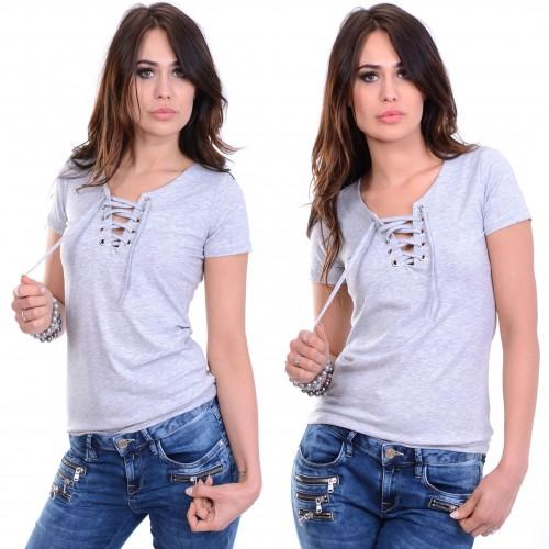 Modna sexy bluzka wiązny dekolt P677