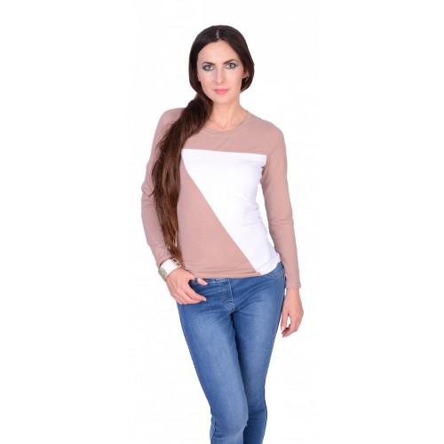 Bawełniana bluzka długi rękaw P663