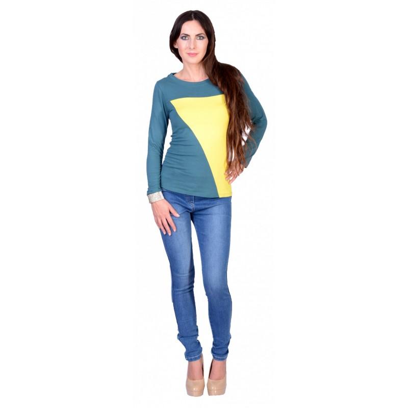 Kolorowa bluzka długi rękaw P663