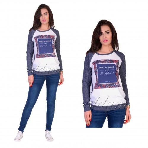Modny sweterek bluzka floral motyw P660