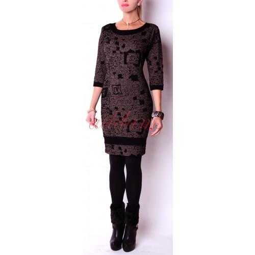 Sukienka midi wyszczuplajca łatki P275