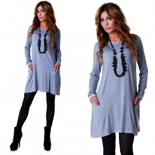 Stylowa sukienka z kieszeniami P505