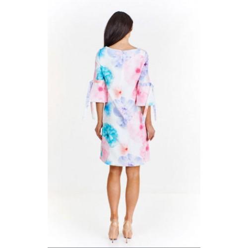 Sukienka w żywe kwiaty E11