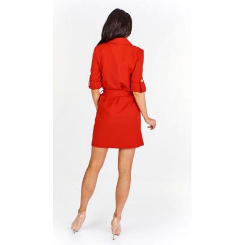 Sukienka szmizjerka E12