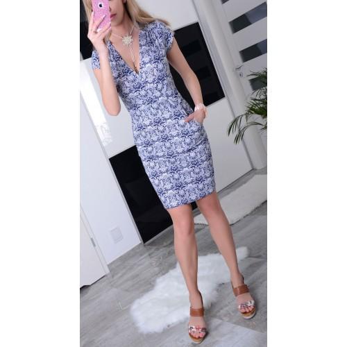 Sukienka na lato z dekoltem kopertowym P883