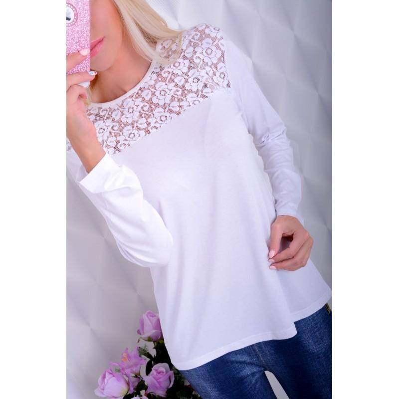 Nowość!  Śliczna bluzka z koronką P626