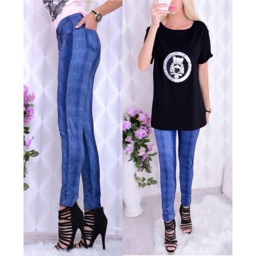 NOWOŚĆ legginsy jak spodnie jeansowe P412a