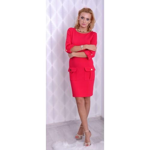 Elegancka sukienka ze złotymi guzikami LUX P895