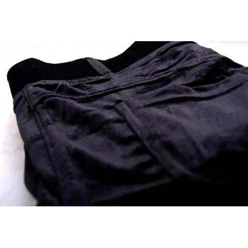 Atramentowe CIEPŁE spodnie P380