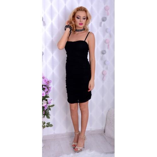 Sylwestrowa sukienka mała czarna P897