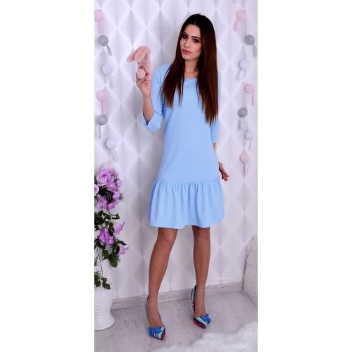 Modna sukienka z falbaną P206
