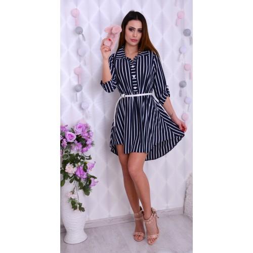 Sukienka koszulowa w paski P507
