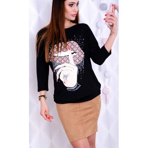 Sexy modna bluzka LUIS z ustami P659