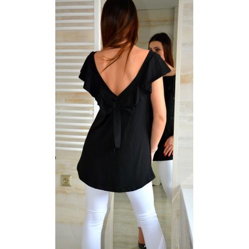 Sexy bluzka hiszpanka kokarda na plecach P669