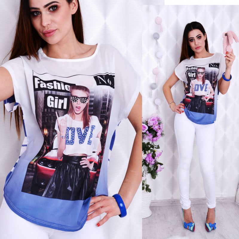 Modna bluzka T-SHIRT P672