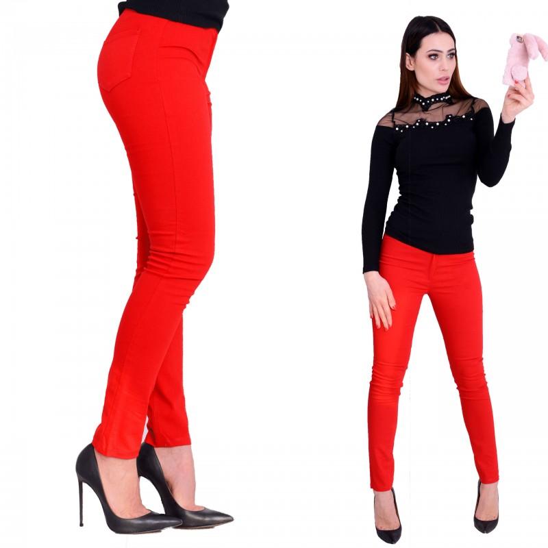 0bc31b3bac972e Czerwone spodnie cygaretki P343 - duże rozmiary - sklep internetowy ...