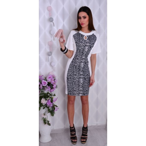 Sukienka z modną skórą węża P833