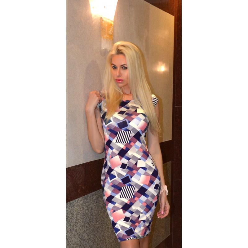Sukienka na lato w kwiaty i wzory P226