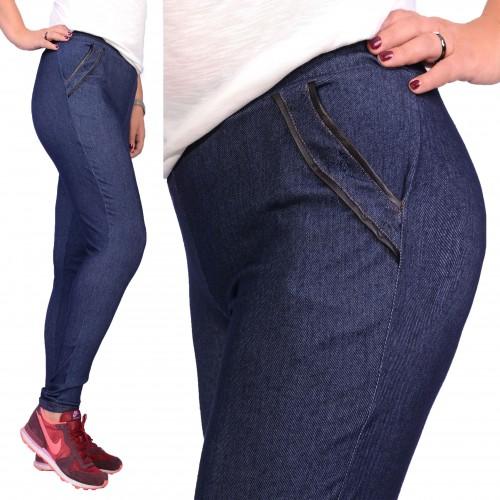 Elastyczne legginsy jeansowe P409