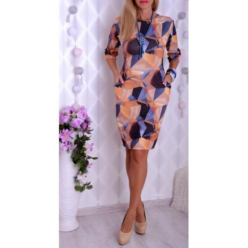 Elegancka sukienka w modne wzory P227