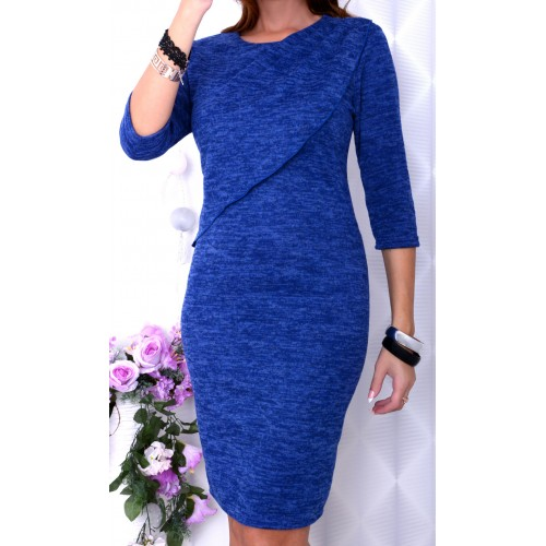 NOWOŚĆ Ciepła sukienka angorka jeans P230