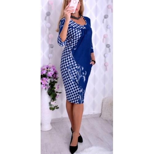 NOWOŚĆ@Milutka sukienka z szachownicą P228