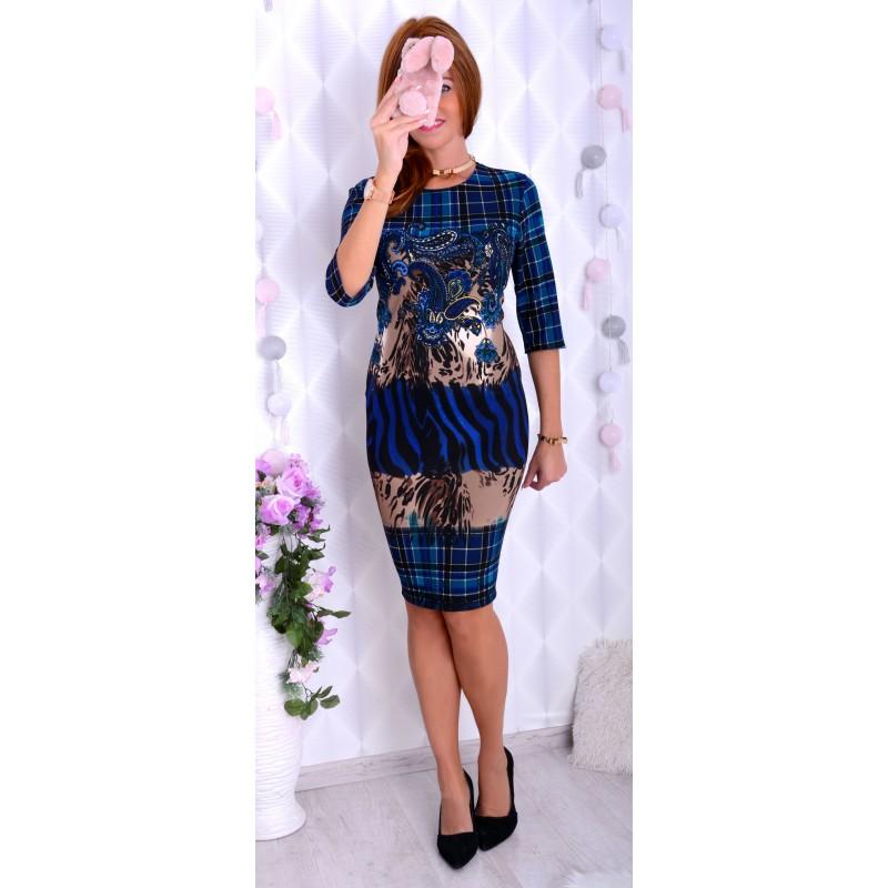 Bajkowa sukienka w stylu CAVALI P231