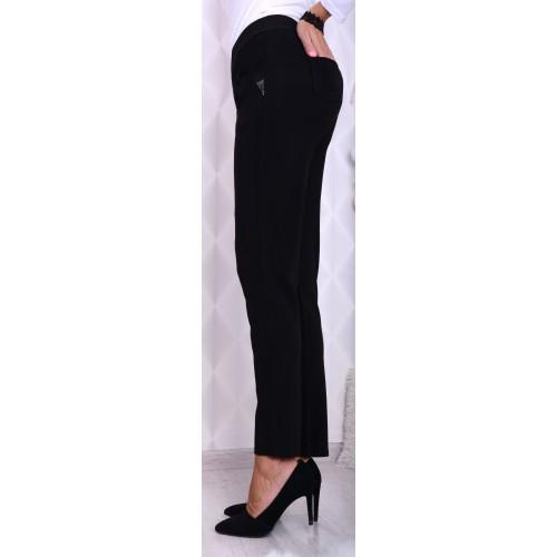 Klasyczne CZARNE spodnie z prostą nogawką P319