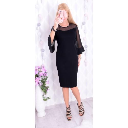 "Sexy sukienka typu ""mała czarna"" Z TIULEM P236"