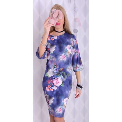 Śliczna sukienka w żywe kwiaty P238