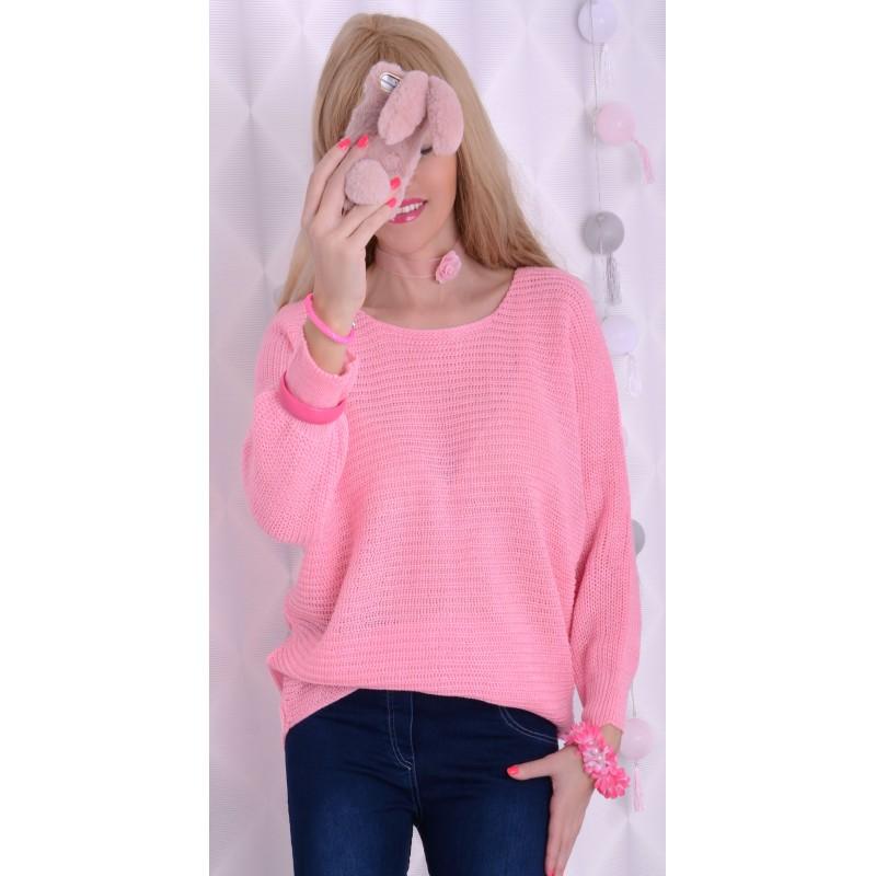 Piękny i milutki sweter -nietoperz P688