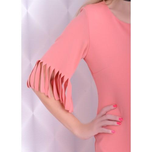 Modna sukienka latino morelowa P208
