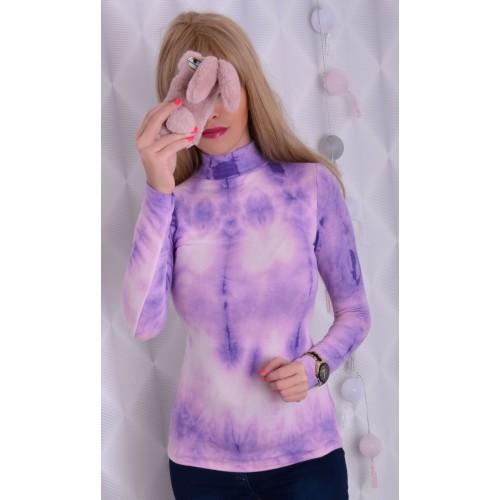 Bajeczny fiołkowy sweterek P687