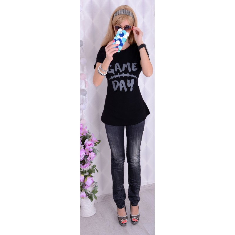 Bawełniana bluzka t-shirt FISHBONE P605