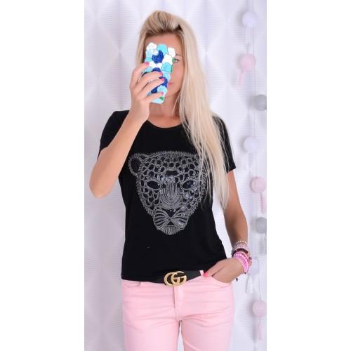 Modna bluzka z nadrukiem tygrys P618