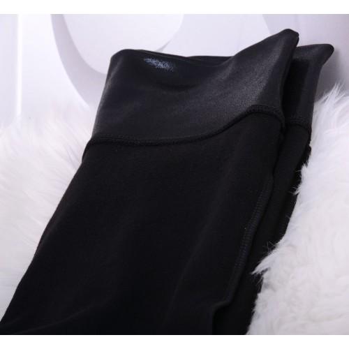 Modne legginsy polarowe lateksowe P403