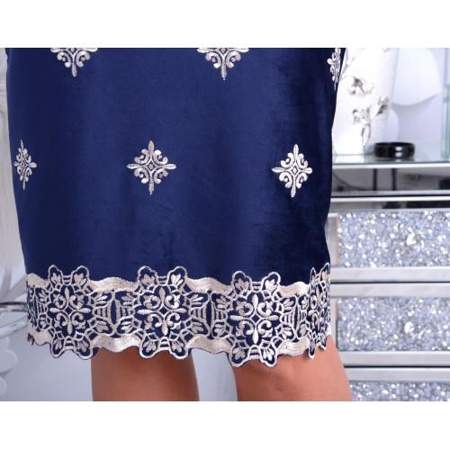 NOWOŚĆ Modna sukienka flauszowa welurowa P244