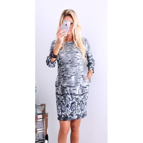 NOWOŚĆ!Śliczna sukienka w zywe mazańce P251