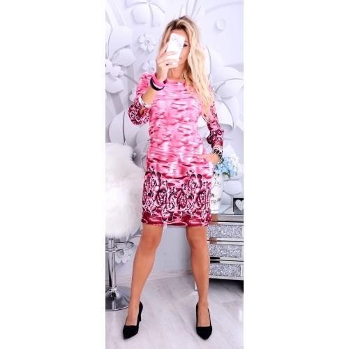 Modna sukienka mazańce z kieszeniami P251