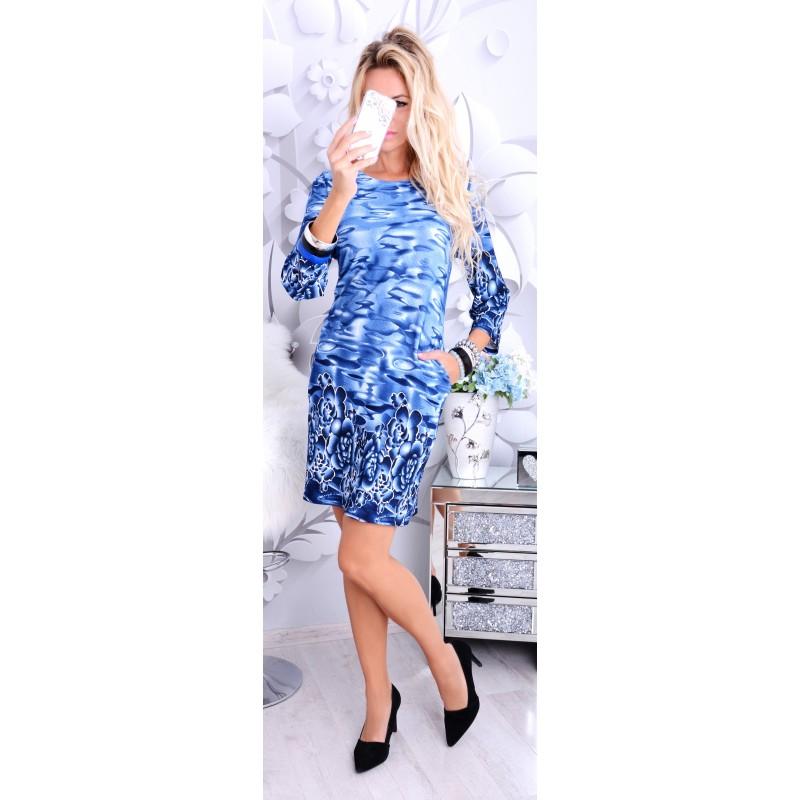 Śliczna sukienka w żywych kolorach mazańcach P251