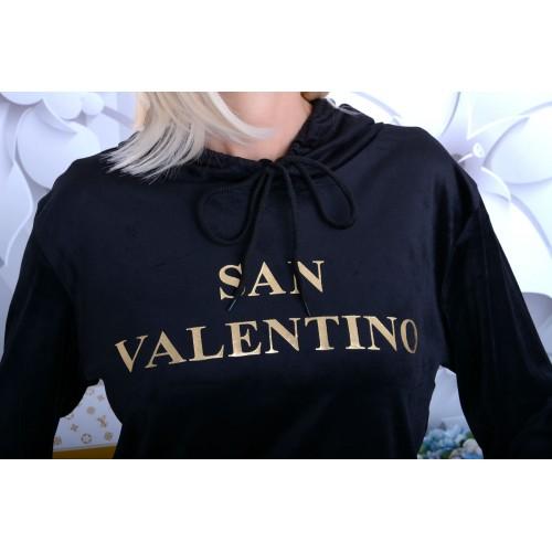NOWOŚĆ Modny dres welurowy SAN VALENTINO P719