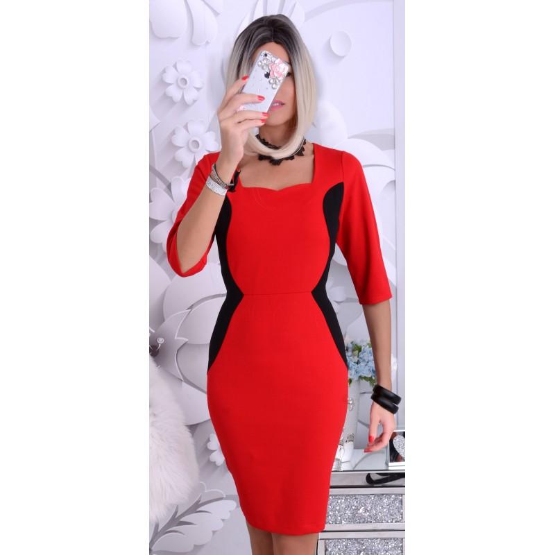 Luksusowa sukienka profilowane boki P202