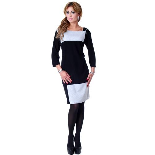 Sukienka ze stylowymi suwakami P219