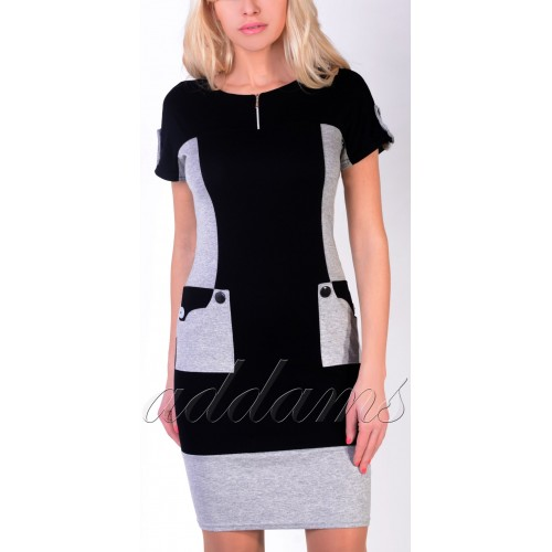 Sukienka dzianinowa krótki rękaw P291